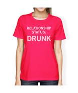 Relationship Status Hot Pink Shirt Funny Design Cute Letter Printed - $14.99+