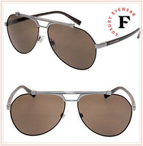 Dolce & Gabbana Viale Piave 2189 Gunmetal Brown Aviator Sunglasses DG2189S Men - $226.71