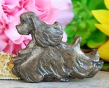 Vintage american cocker spaniel show dog trotting brooch pin figural thumb155 crop