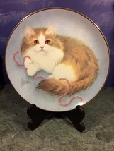 HAMILTON Collection CURIOUS KITTEN Plate ALL WOUND UP (1990) Bob Harriso... - $14.36