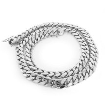 925 Sterling Silver Solid Miami Cuban Curb Link Chain Necklace Rhodium P... - $125.73+