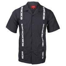 vkwear Guayabera Men's Cuban Beach Wedding Short Sleeve Button-Up Casual Dress S