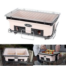 Charcoal Grill Barbeque Outdoor Large Cooking Surface Adjustable ventila... - £36.68 GBP