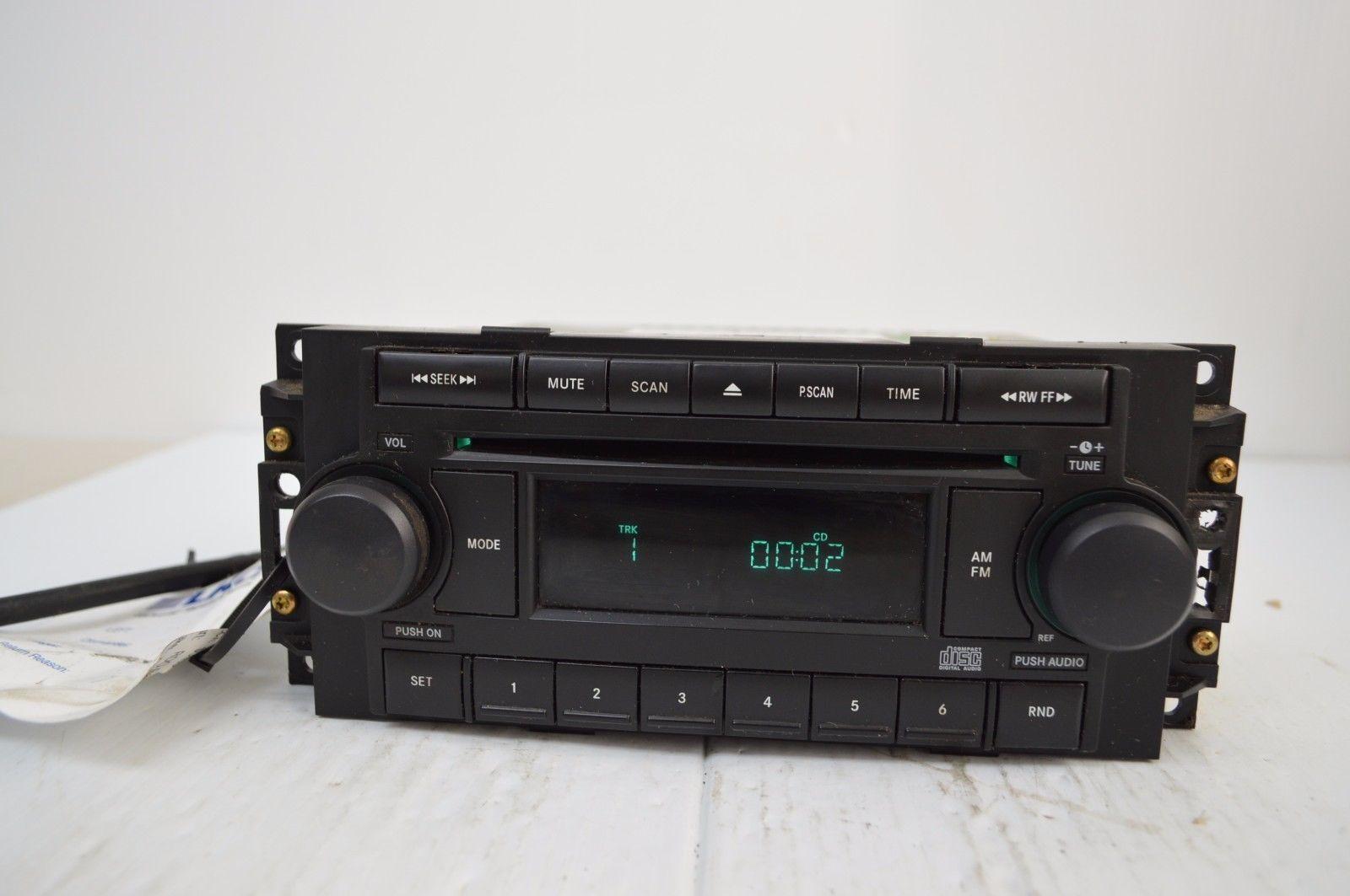2004-2010 Chrysler Dodge Jeep Radio Cd MP3 AUX IPOD TESTED P05091710AG N49#019 image 2