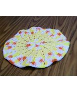 Large Round Hot Pad, Crochet, Handmade, Kitchen Decor, Double Thick, Gift - $14.00