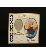 50th Wedding Anniversary Gift - Golden Double Then-and-Now Frame by Russ - $7.00