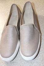 LN Keds Womens11 M gold/tan khaki canvas skip on shoes - $23.75