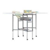 SewingRite Mobile Folding Height Adjustable CutStation w/Grid Top - Silv... - $251.99