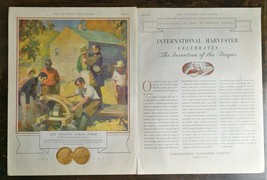 Vintage 1931 International Harvester The Invention of The Reaper Twol Page Ad - $6.64