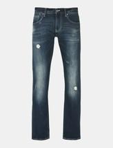 ARMANI EXCHANGE Authentic Medium Wash Rip and Repair Fleece Slim Fit Jea... - $39.99