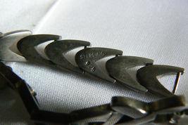 """Vintage Sterling Silver 925 Shevron link  Bracelet 8""""L image 5"""
