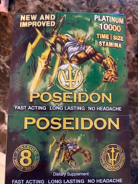 Primary image for POSEIDON PLATINUM GREEN MALE ENHANCEMENT 24 COUNT BOX