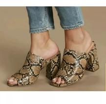 Lulus Raelynn Tan Croc python Vegan Peep Toe Heel Sz 9 - $23.80
