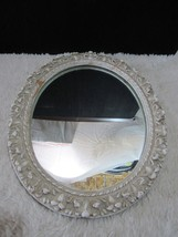 Vintage Syrocowood Oval Mirror with Backing/Wall Hangers - $35.95