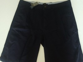 Club Room Shorts Mens Classic Tall Officer Navy Blue Solid Pleat New MSR... - $23.22