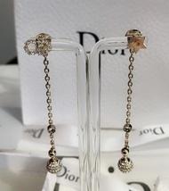 NEW AUTH Christian Dior 2019 LA PETITE TRIBALE EARRINGS CD CRYSTAL Pearl Dangle  image 3