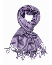 Gray Grey Fashion Pashmina Shawl Scarf 64 x 28 inches Tassels Womens - $9.11