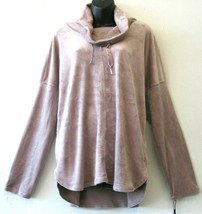 Calvin Klein Velour Sweatshirt Top Purple Size XXL Cowl-Neck Pullover NE... - $34.64