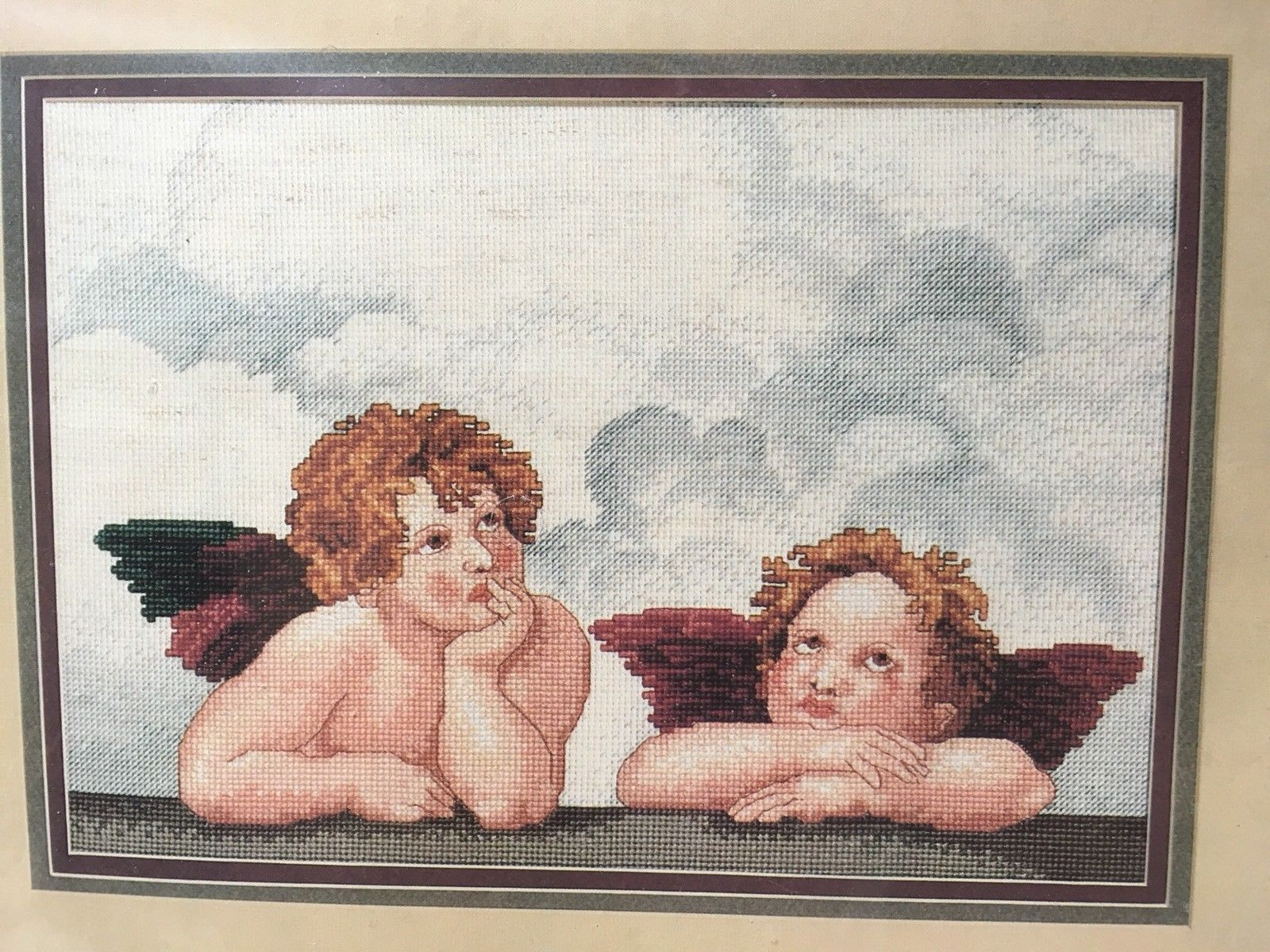 New Vtg Sealed Janlynn Heavenly Cherubs Counted Cross Stitch Kit Angels #157-21