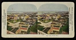 PUERTO RICO / PORTO RICO 1906 STEREOSCOPE / STEREOSCOPIC CARD Coconut Ha... - $12.86