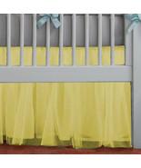 Yellow Tulle Lined Ruffled Crib Skirt / Mini Crib Skirt - $39.99+