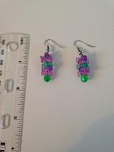 multicolored dangling beaded pierced earrings  - $19.99