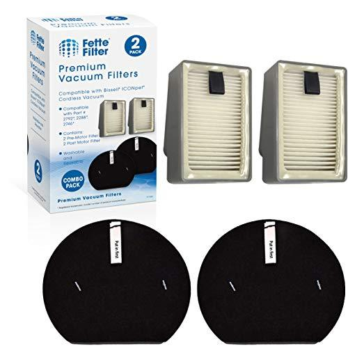 Fette Filter - Pre and Post Motor Filters Compatible with Bissell ICONpet Cordle