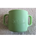 Green Sprouts Silicone Baby Training Cup 2 Side Handles Dishwasher Safe - $5.48