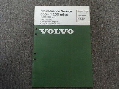 1980 Volvo Modelle Kraftstoff Motoren Wartung Service Shop Manuell Fabrik OEM