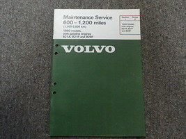 1980 Volvo Modelle Kraftstoff Motoren Wartung Service Shop Manuell Fabri... - $22.93