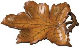 Tray Traditional Rustic Maple Leaf Large Oversized Resin - $179.00