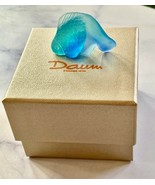NEW Daum Blue Small Goldfish Pate de Verre French Crystal Free Display P... - $157.41