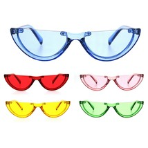 Womens Cropped Flat Top Retro Cat Eye Fashion Sunglasses - $9.85+