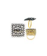 Valentine Gift Square Moonstone NEW Sterling Silver Diamond Citrine Ring... - $195.10