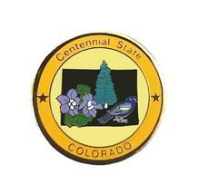 Colorado Pin State Bird Flower Nickname Shape Tree Travel Vacation Hat L... - $5.38