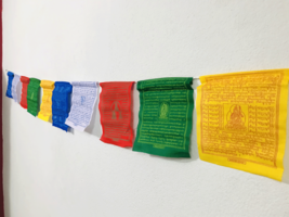 Tibetan  Cotton Prayer  Flags Contain 10 Flag(S) - $2.90