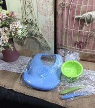 Oceanside Baby Silicone Feeding Set Silicone Bib Bowl Spoons - $19.99