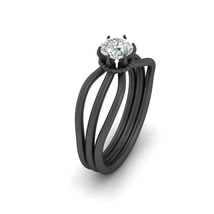 Solitaire Half Carat DEF White Moissanite Engagement Ring For Her Solid 18k Gold - $1,109.99
