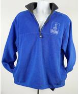 Chevy Malibu Team 2002 USA Snowboard Fleece Polyester 1/2 Zip Jacket Men... - $28.66