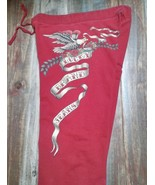 1990 Lucky Brand Cotton Sweatpants Sweat Pant Red Eagle Logo ASOS Blogge... - $64.98