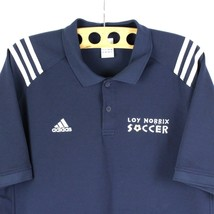 Adidas CLIMALITE Polo Size L RARE 2004 Loy Norrix Soccer Athletic Athlei... - $21.37