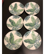 "Prima Design Ceramic 8"" Serving Platter Green Leaf-Set of 6 - $23.38"