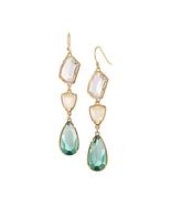 New arrival women qingdao factory hot sale fashion dangle three stones earrings 1 thumbtall