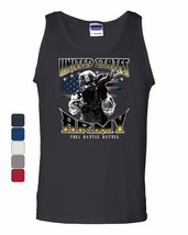United States Army Tank Top American Soldier Full Battle Rattle Sleeveless - $12.90+