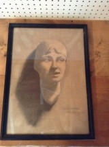 "RARE! VINTAGE 1927 D. HANNAFORD CANVAS SKETCH DRAWING FRAMED 14.5"" X 20""... - $338.58"