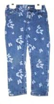 Girls Blue Butterfly Print J EAN S Size 4T - $3.50