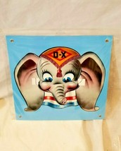 "Disney Dumbo elephant DX gas oil station company 12"" Square Metal sign vtg style - $73.50"