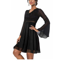 NIP Lace Overlay Inserts Dress black S - $29.00