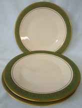 Franciscan China Mid Century Mad Men Antique Green Salad Plate Set of 3 - $32.56