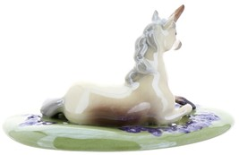 Hagen-Renaker Specialties Ceramic Figurine Unicorn Lying on Base image 3